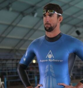 Oops! Michael Phelps shows off more than he intended in this skintight wetsuit