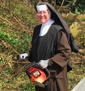 People can't stop talking about this nun with a chainsaw doing hurricane cleanup in Miami