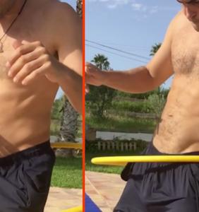 Hula-hooper goes viral, but nobody's looking at his hoop