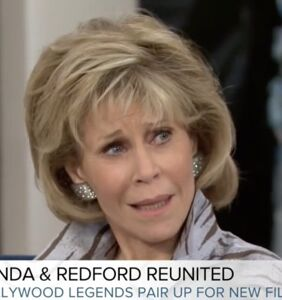 Jane Fonda is all of us as she makes this face at Megyn Kelly