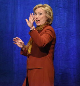 Hillary Clinton sees you, fake Facebook gays