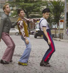 WATCH: Noah Galvin, Ben Platt & Taylor Trensch's disco fraternity