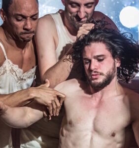 "Kit Harington says he'll happily strip down ""for anyone."" And it looks like he means it."