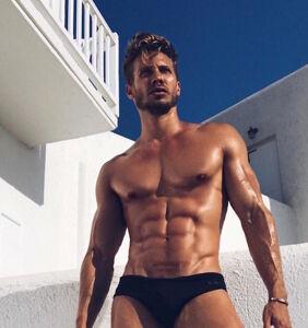 Meet the mindbogglingly beautiful Matt Law, clothing-averse model