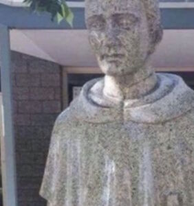 This Catholic school for boys didn't realize there's something deeply creepy about their new statue