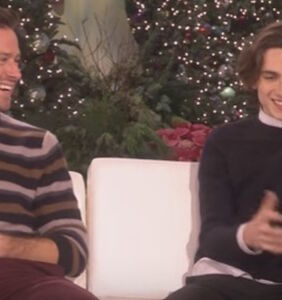 Armie Hammer and Timothee Chalamet open up to Ellen about making out