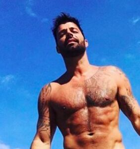 Ricky Martin celebrates his birthday wearing a tiny speedo in Puerto Rico