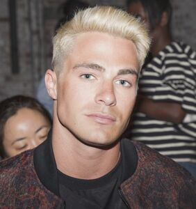Colton Haynes gets a kiss from his straight costar