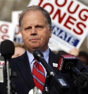 Doug Jones may be proud of his gay son, but he's a jerk when it comes to sexual assault