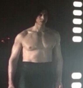 """Adam Driver knows exactly how you felt during his shirtless scene in """"The Last Jedi"""""""