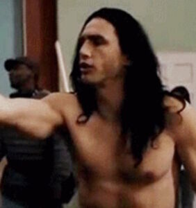 "James Franco's unclothed scenes in ""The Room"" have leaked"
