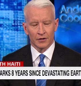 """Anderson Cooper fights back tears as he defends Haiti from Trump's unbelievable """"sh*thole"""" comment"""