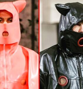 Everyone's freaking out over this high fashion pig inspired menswear collection