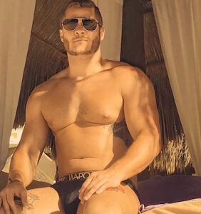 Austin Armacost traps all the thirst in revealing airport shower selfie