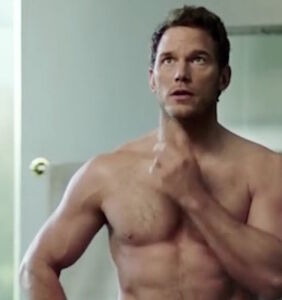 Shirtless Chris Pratt shirtlessly gives fans what they want in sprightly new SuperBowl ad