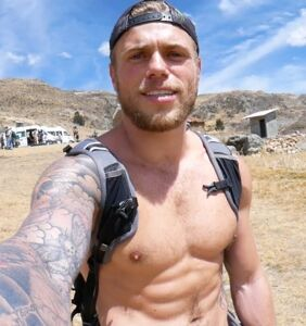 Gus Kenworthy pitches a tent, wakes up to the sound of a strange man pleasuring himself