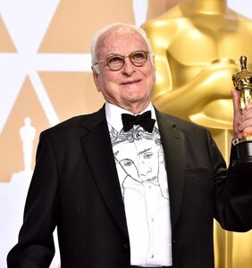 James Ivory wins Oscar for best screenplay, wears Timothee Chalamet's face on shirt