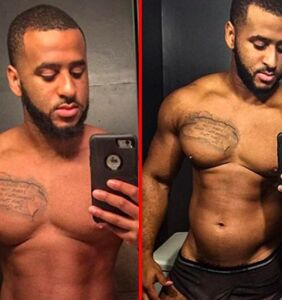 Personal trainer comes out to family as a submissive bottom wearing just his jockstrap
