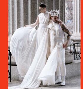 PHOTOS: Nico Tortorella wore a white dress as he married his longtime lesbian partner