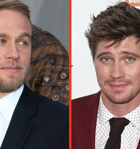 "PHOTOS: Charlie ""12-Inch"" Hunnam and Garrett Hedlund's shirtless wrestling session"