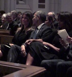 Amazing memes perfectly capture that time Obama made Melania Trump smile at a funeral