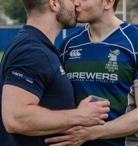 The viral rugby kiss that's tackling homophobia