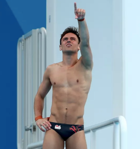 Whoops! Tom Daley accidentally slips out of his speedo mid-dive