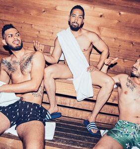 "See why everyone's gagging over this locker room photoshoot featuring the men of ""Insecure"""