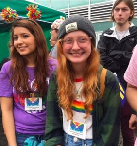 Meet Erin Bailey, the 18-year-old student who took on Mike Pence with Pride