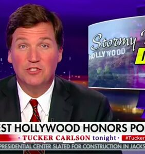Watch Tucker Carlson flip out over West Hollywood honoring Stormy Daniels… WHO IS NOT EVEN GAY!!!