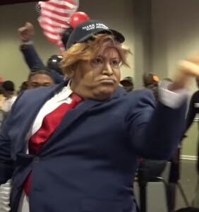 WATCH: Donald Trump pops up at a supervillain-themed vogue battle and wins grand prize
