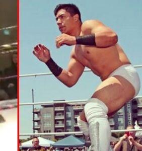 WATCH: Pro wrestling match takes a turn when Jake Atlas kisses opponent