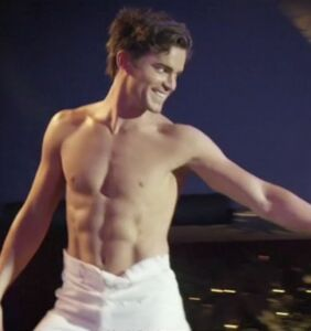 Oops! Matt Bomer left naked and soaking wet in front of a packed crowd