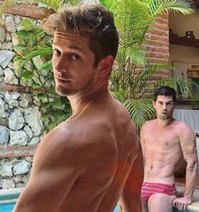 Max Emerson measures his boyfriend for a condom