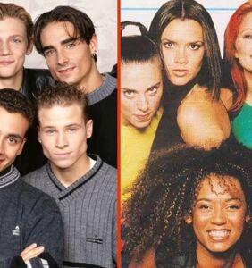 Backstreet Boys take the stage in full Spice Girls drag