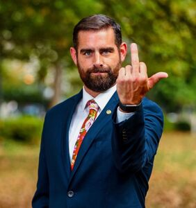 """Read the homophobic letter someone sent to """"the d*ck sucking f*ggot Brian Sims"""""""