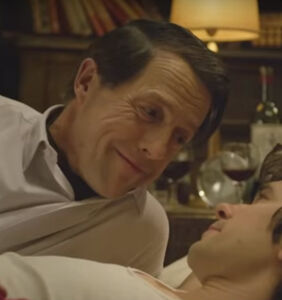 That time Hugh Grant watched his gay sex scene with his dad