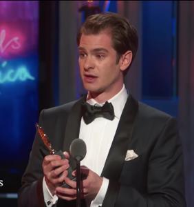 Andrew Garfield dedicates Best Actor Tony win to LGBTQ community in empowering speech