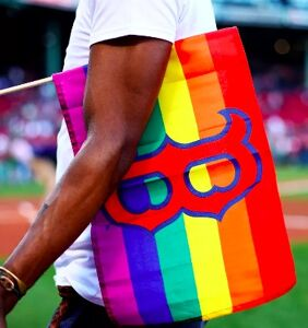 """Feeling left out, fans demand """"Straight Pride Night"""" after Red Sox paint pitcher's mound rainbow"""