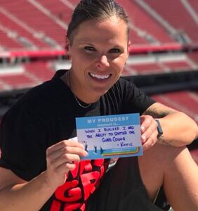 Katie Sowers shatters the NFL's pink ceiling not once but twice