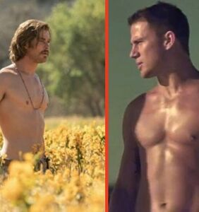 Channing Tatum is thirsting after shirtless Chris Hemsworth. Relatable.