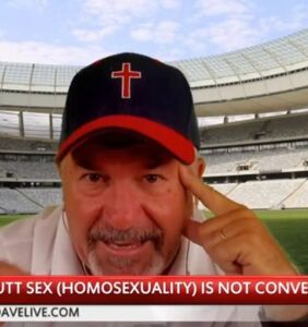 """This Christian extremist can't stop talking about """"male butt sex,"""" compares it to Wendy's hamburgers"""