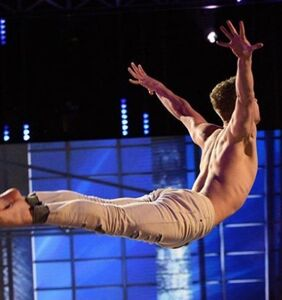 Shirtless Australian dancer shows off his insane moves