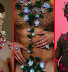 PHOTOS: Naked men covered in flowers… Need we say more?