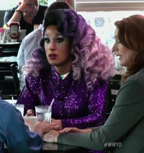 Watch this diner full of people rally around a drag queen after she's rejected by her family