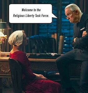 """These """"Religious Liberty Task Force"""" memes make the whole thing slightly less creepy"""