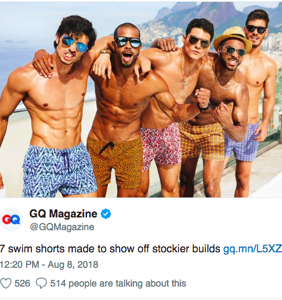 "GQ gets draggggged over this tweet about swimsuits for guys with ""stockier builds"""