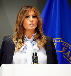 "Melania says grown-ups need to be less ""destructive"" on social media and Twitter is like ""Girl, bye!"""