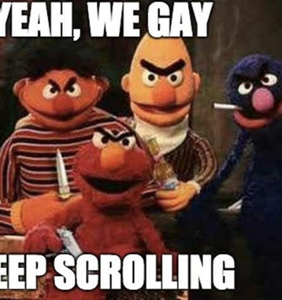 Memers determine that Bert & Ernie are actually a vers gay power couple into role play