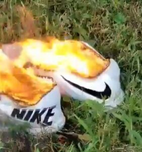 Burn, baby, burn: Memers take aim at all those people torching their Nikes for America